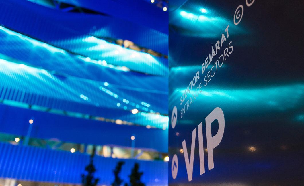 Graphasel Design Studio - 17th FINA World Championships & Danube Arena – Signage System - Branding Interior Print Wayfinding