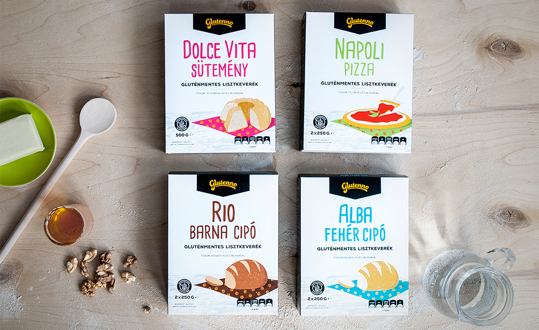 Graphasel Design Studio - Glutenno Packaging - Branding Packaging