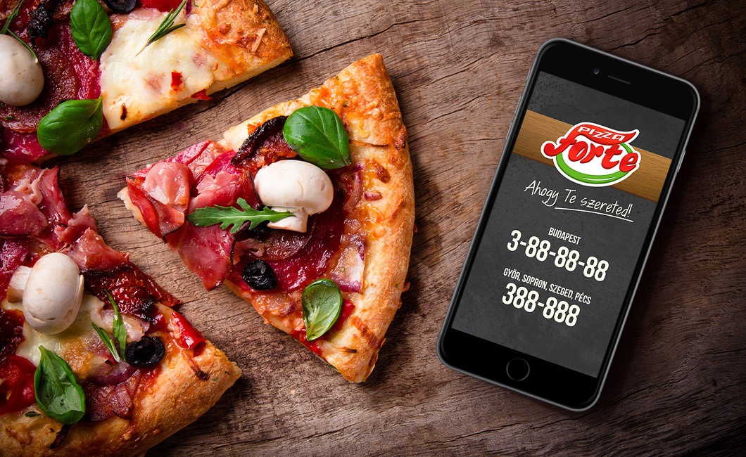 Graphasel Design Studio - Pizza Forte App and web design - Online