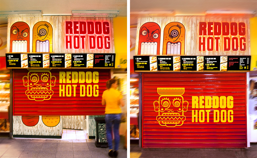 Graphasel Design Studio - Reddog Hot Dog - Branding Packaging Print