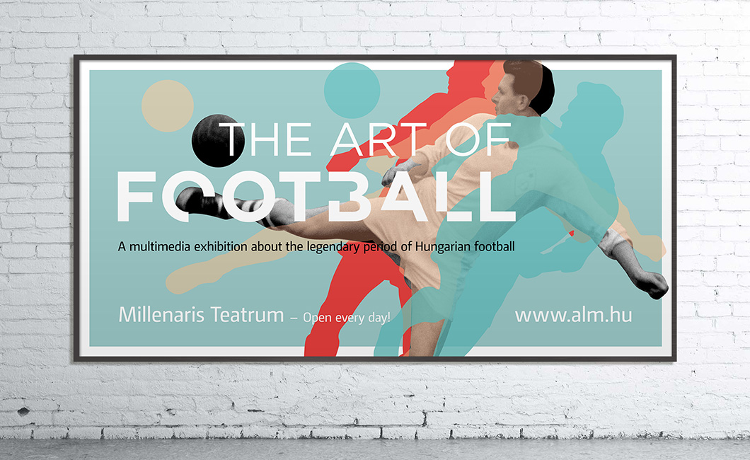 Graphasel Design Studio - The Art of Football Exhibition - Branding Interior Print
